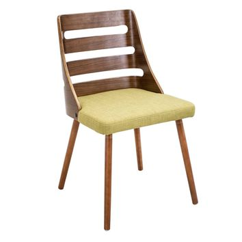 Trevi Chair Walnut, Green