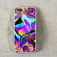 Art Abstract Color Mix iPhone 5 Scrub Case