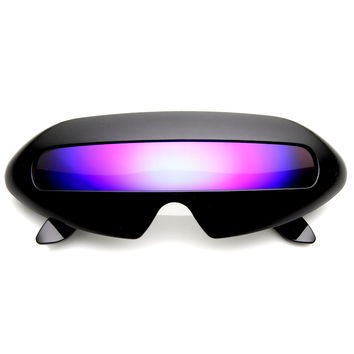 Retro Futuristic Novelty Space Cadet Shield Sunglasses 8125