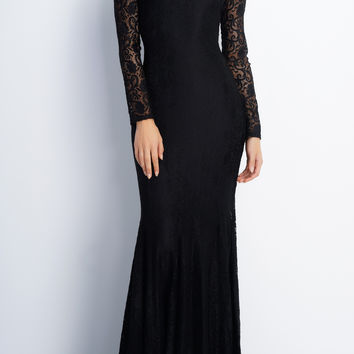 Eleanor Lace Gown - Black
