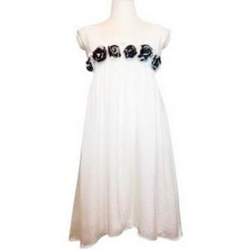 Alice + Olivia Silk Chiffon Flowered Dress Size Medium Free Shipping! $35