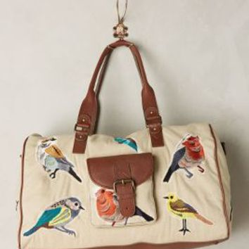 Miss Albright Birdwatcher Weekender in Beige Size: One Size Bags