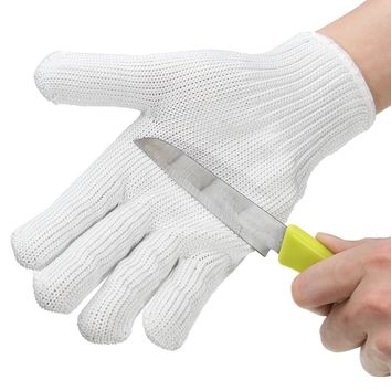 Safurance Anti-cutting Gloves Wearable Anti-glass Scratches White Wire Work Gloves Safety Gloves Cut Metal Mesh Butcher