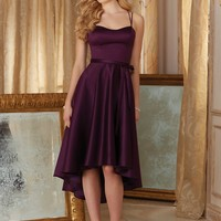 Morilee Bridesmaids 31086 Tank Satin Knee Length Bridesmaids Dress