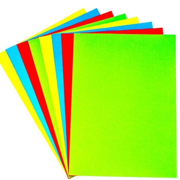 Coloured Paper - 8 sheet pack A4