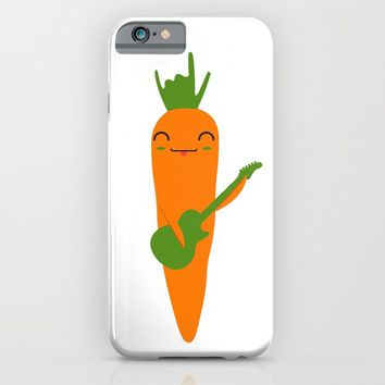 ROCK AND ROLL CARROT iPhone & iPod Case by deificus Art