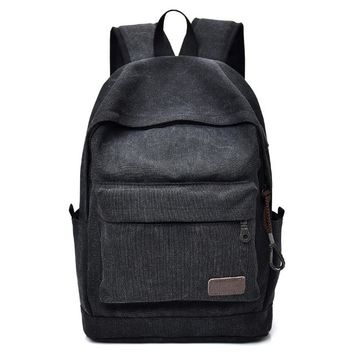 Cool Backpack school Men Canvas Backpack USB Laptop Backpack 2018 Vintage Style Student School Book Bags for Boys Rucksack Women Travel Bags Cool Bag AT_52_3