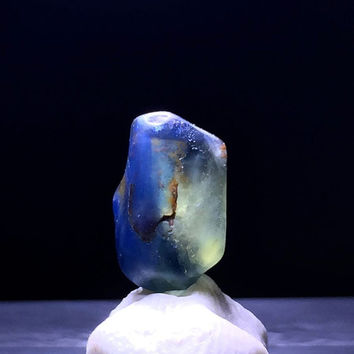 Bi Color Madagascar Sapphire Uncut Rough Natural Blue and Yellow