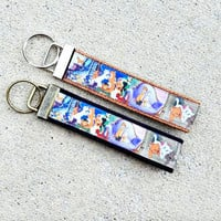 Disney Inspired The Aristocats Keychain, Key Fob, Accessories, Key Holder, Cat Lover Gift, Marie, Duchess, Thomas, Scat Cat, Wristlet, Cats
