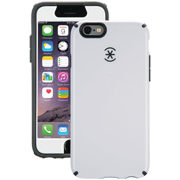 SPECK 74013-B860 iPhone(R) 6/6s CandyShell(R) Case + Faceplate (White/Charcoal Gray)