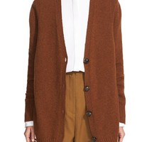 Women's Rosetta Getty Oversize Wool & Cashmere Cardigan,