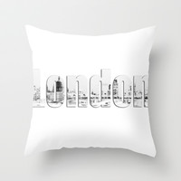 London Canvas Throw Pillow by Karl Wilson Photography