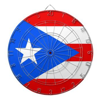 Dartboard with Flag of Puerto Rico, USA