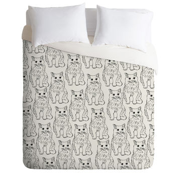 Allyson Johnson Cat Obsession Duvet Cover