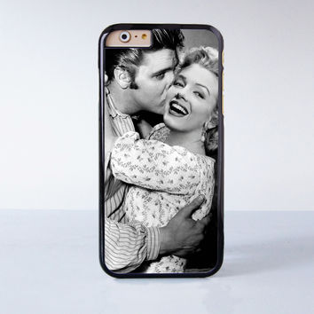 Elvis Presley Kiss Marilyn Monroe Plastic Case Cover for Apple iPhone 6 6 Plus 4 4s 5 5s 5c