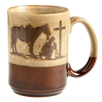 M&F Cowboy Prayer Coffee Mug