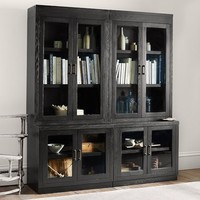 REYNOLDS GLASS DOOR BOOKCASE