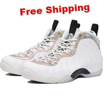 "Nike Air Foamposite One ""Summit White""AA3963-101 Basketball Sneaker"