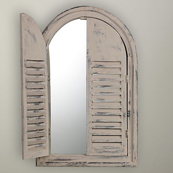 Buy Louvre Door Mirror, White online at John Lewis