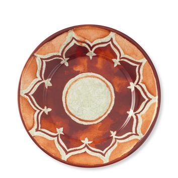 Red Byzantine Salad Plates, Set of 4