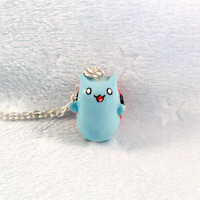 Catbug Bravest Warriors Charm Necklace, Silver Plated Necklace, Cute, Kawaii :D