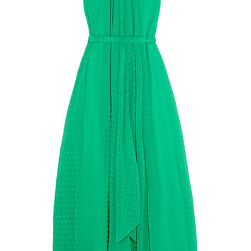 Saloni - Irina Swiss-dot chiffon maxi dress