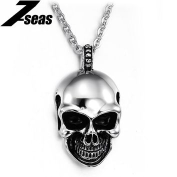 Mix order new arrival personalized skull pendant stainless steel necklaces best gift for man 807