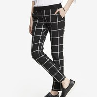 WINDOWPANE PLAID COLUMNIST ANKLE PANT