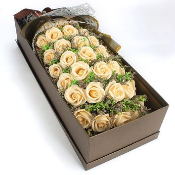 Valentines day bouquet of dried flowers
