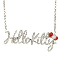 Hello Kitty Large Bling Nameplate Necklace - 146168