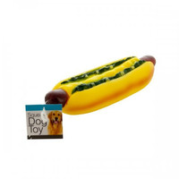 Giant Hot Dog Squeaky Dog Toy (pack of 12)