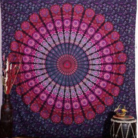 Indian Mandala Printed Tapestry Wall Hanging Hippie Throw Bohemian Twin Bedspread Beach Yoga Mat Throw Towel Decor 210*148cm