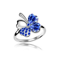 Stylish Shiny New Arrival Gift Classics Hot Sale Crystal Leaf Luxury Jewelry Accessory Ring [6586076295]