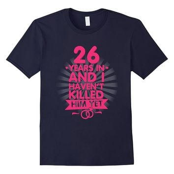 26 Years of Marriage T shirt. 26th Anniversary Gift for Wife