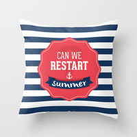 Can we restart summer Throw Pillow by Gal Ashkenazi