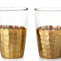 One Kings Lane - Set of 2 Gold Glasses ($20-50) - Svpply