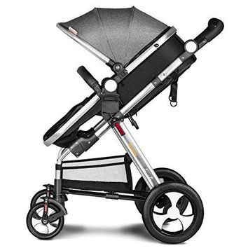 Newborn Baby Stroller for Infant Folding Convertible Baby Carriage Luxury High View Anti-shock