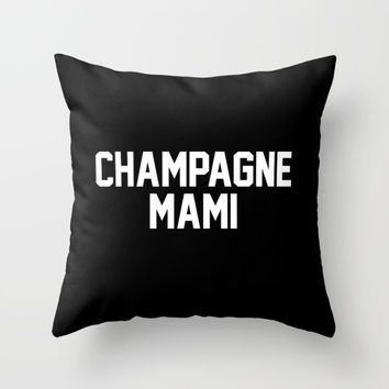 Champagne Mami Throw Pillow With Insert