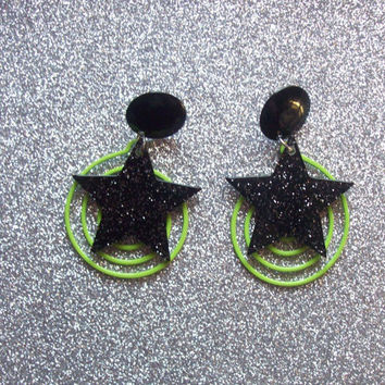 Pizzazz - Jem Inspired Earrings