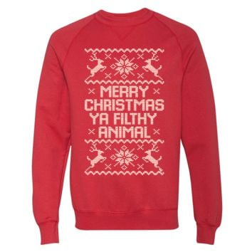 Merry Christmas Ya Filthy Animal Sweater