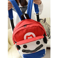 Cute Super Mario Backpack Men or Women bags
