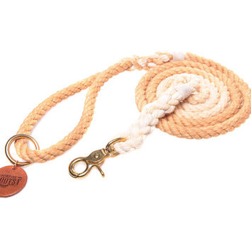 Tan Ombré Rope Dog Leash
