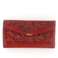 Spanish Rose Wallet in Red