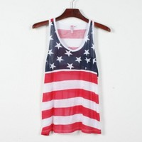 Us Flag Tank Top
