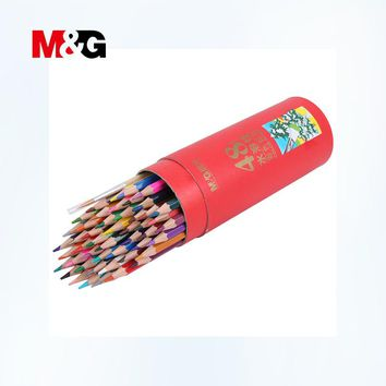 M&G Watercolor Pencils 12/24/36/48 Colors Stationery Student Pencils For School Stationery Colour Pencils For Drawing Office