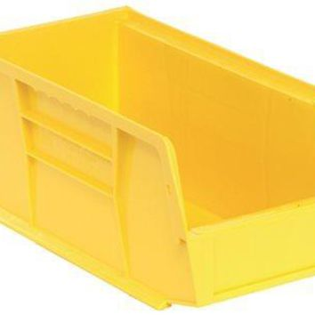 """Quantum Storage Systems Stack And Hang Bin, 10-7-8"""" X 5-1-2"""" X 5"""", Yellow"""