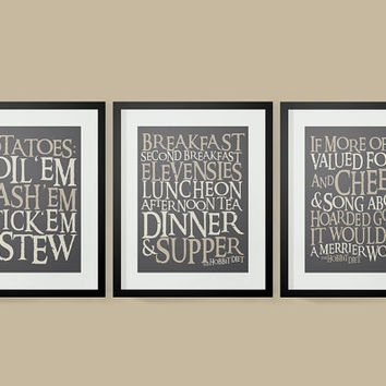 Delicieux 30% OFF Lord Of The Rings Inspired Hobbit Diet Typography Posters, Lord Of  The
