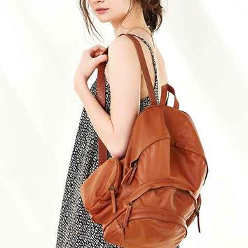 Ecote Multi Pocket Leather Backpack