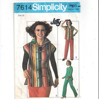 Simplicity 7614 Pattern for Jiffy Unlined Jacket, Pants, Size 10, From 1976, Easy Sew Pattern, Vintage Pattern, Home Sew, 1976 Fashion Sew