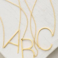 Monogram Pendant Necklace by Anthropologie in A Size: 19, Jewelry at Anthropologie